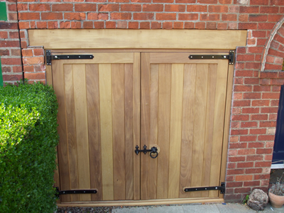 iroko garage doors & Garages - Sandalwood Gates and Timber Products for the commercial ...